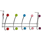 more details on HOME 5 Double Coloured Ball Over Door Hooks - Chrome.