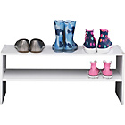 more details on HOME 2 Tier Internal Wardrobe Shoe Storage Rack - White.
