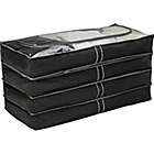 more details on HOME Set of 4 Underbed Storage Bags - Black.
