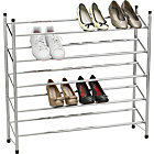 more details on HOME 5 Tier Extendable Shoe Storage Rack - Chrome Plated.