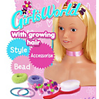 more details on Girls' World Styling Head Doll.