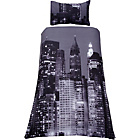 more details on Living New York Skyline Duvet Cover Set - Single.