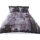 more details on Living New York Skyline Duvet Cover Set - Double.
