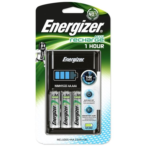 buy energizer battery charger with 4 x aa 2300 mah. Black Bedroom Furniture Sets. Home Design Ideas