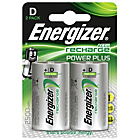more details on Energizer 2500 mAh NiMH Rechargeable D Batteries - 2 Pack.