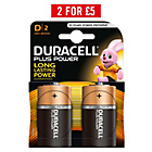more details on Duracell Plus Power Alkaline D Batteries - Pack of 2.
