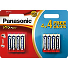 more details on Panasonic Pro Power Alkaline AA Batteries - 4 Pack + 4 Free.
