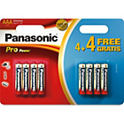 more details on Panasonic Pro Power AAA Batteries - 4 Pack + 4 Free.