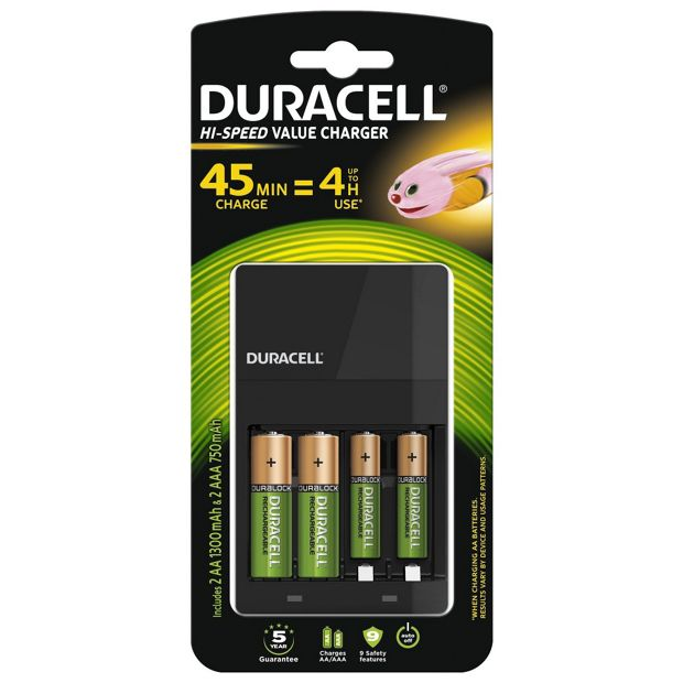 buy duracell 45 min aa aaa battery charger with 2xaa. Black Bedroom Furniture Sets. Home Design Ideas
