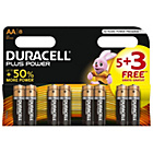 more details on Duracell Plus Power AA Alkaline Batteries 5 + 3 Free.