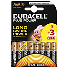 more details on Duracell Plus Power Alkaline AAA Batteries -Pack of 5+3 Free