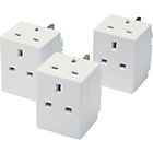 more details on Masterplug 3 Way Adaptor Triple Pack.