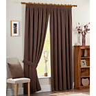 Chenille Spot Thermal Backed Curtain - 229x229cm - Chocolate