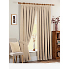 Chenille Spot Thermal Backed Curtains - 117 x 183cm - Cream