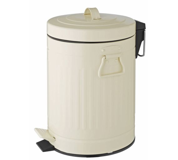 Habitat Sesamee 5l Metal Bathroom Bin Cream At Argos