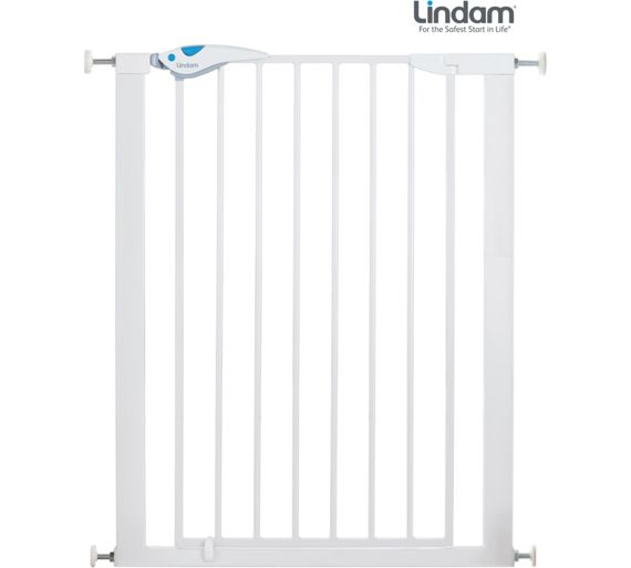 buy lindam easy fit plus deluxe tall safety gate at argos. Black Bedroom Furniture Sets. Home Design Ideas