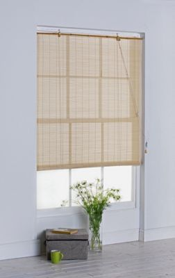 Simple Value Bamboo Roller Blind - 2ft - Natural