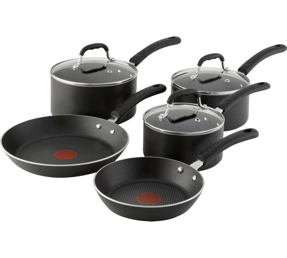 buy tefal non stick aluminium 5 piece induction pan set at your online shop for. Black Bedroom Furniture Sets. Home Design Ideas