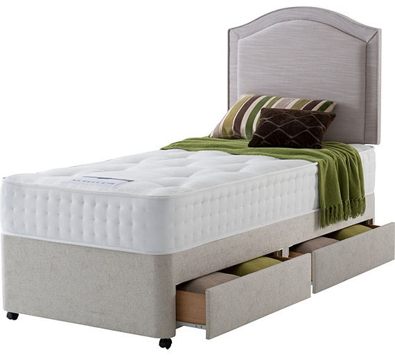 Buy rest assured irvine 1400 pocket ortho single 2 drw divan bed at your online Argos single divan beds