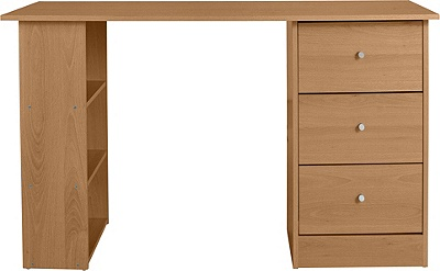 Buy Malibu 3 Drawer Desk Oak At Argos Co Uk Your