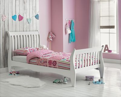 childrens single beds buy single sleigh bed frame white at argos co uk 11119