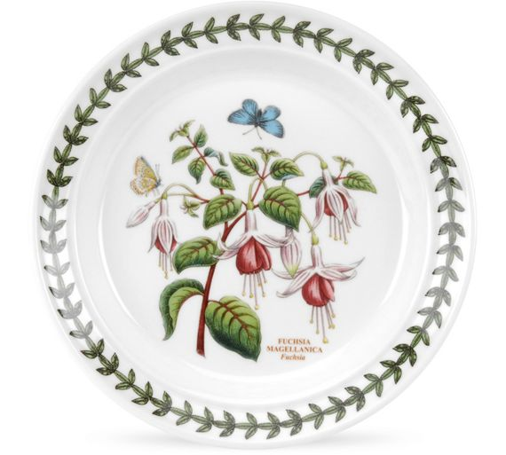Buy portmeirion botanic garden tea plate 6 piece set at for Portmeirion dinnerware set of 4 botanic garden canape plates