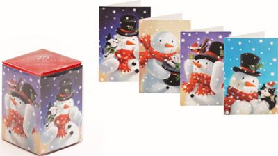 Paper House Snowman Christmas Kids Cube Cards