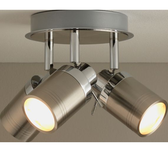 Wall Lamps Argos : Buy Collection Livorno 3 Light Bathroom Spotlight - Chrome at Argos.co.uk - Your Online Shop for ...