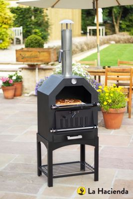 La Hacienda Steel Multi-Function Pizza Oven
