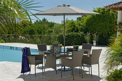 The Collection Havana Rattan Effect Grey 6 Seater Patio Set