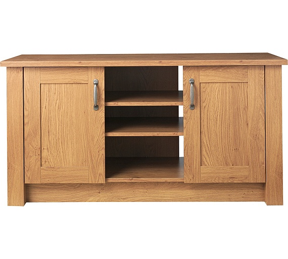 buy collection ohio 2 door tv unit low sideboard oak. Black Bedroom Furniture Sets. Home Design Ideas