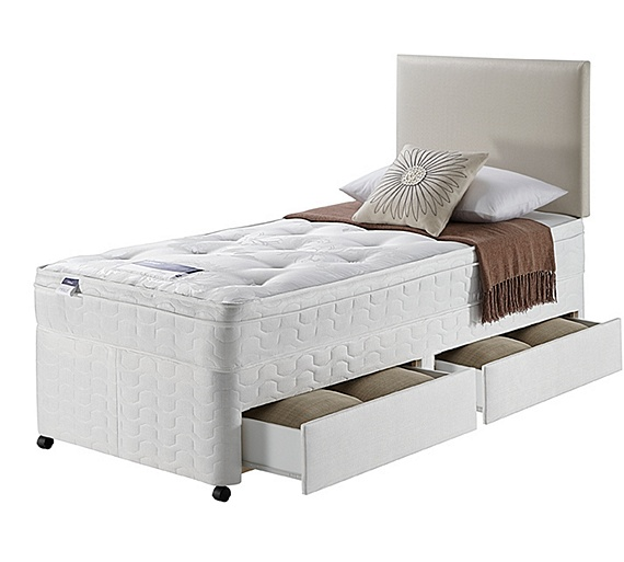 Buy silentnight miracoil travis ortho single 2 drw divan bed at your online shop Argos single divan beds