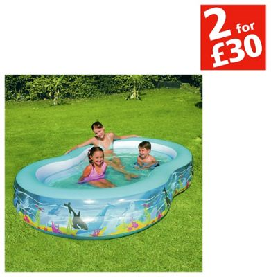 Chad Valley Ocean Lagoon Pool - 9ft - 500 Litres