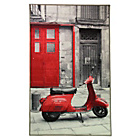 Icons Scooter Grey and Red Rug - 100 x 160cm