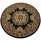 Maestro Traditional Rug - 120x120cm - Black
