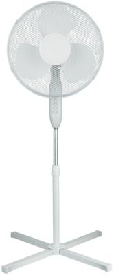 Simple Value White Oscillating Pedestal Fan - 16 Inch