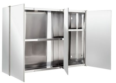 stainless steel mirror bathroom cabinet buy home 3 door mirrored bathroom cabinet stainless 24267
