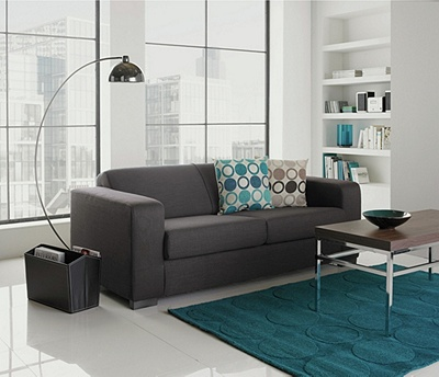 argos living room furniture buy hygena new 3 seater fabric sofa charcoal at 17728