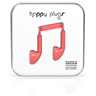 Happy Plugs Mic and Remote In-Ear Headphones - Coral