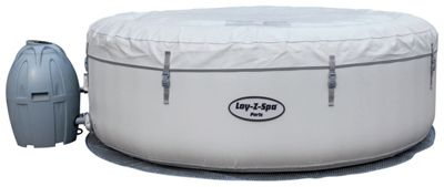 Paris 6 Person LED Lay-Z-Spa Hot Tub