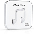 Happy Plugs Mic and Remote In-Ear Headphones - White