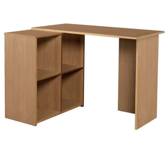 Buy Home Calgary Corner Desk Oak Effect At Your Online Shop For Desks And