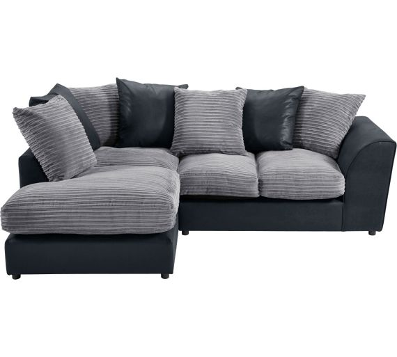 Argos corner sofa grey home for Argos chaise sofa bed