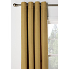 Heart of House Hudson Lined Eyelet Curtains-168x183cm-Ochre