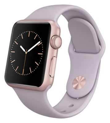 Apple Watch 2015 Sport 38mm Rose Gold Case & Lavender Band