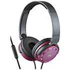 JVC HA-SR525 On-Ear Headphones with Mic and Remote - Red
