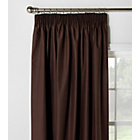 ColourMatch Blackout Thermal Curtains -117x137cm -Chocolate
