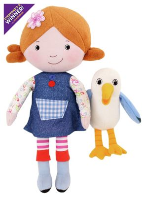 Lilys Driftwood Bay Talking Poseable Lily Soft Toy with Gull