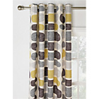 HOME Pebbles Unlined Eyelet Curtains -168x183cm- Grey/Yellow