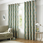 Simone Lined Eyelet Curtains - 229x229cm - Duckegg